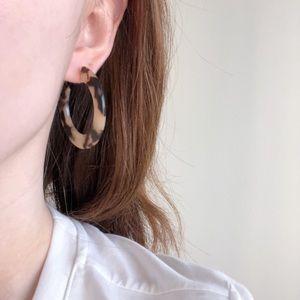 Jewelry - Blonde Tortoise C Shaped Hoop Earrings